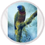 St. Lucia Parrot - Majestic Round Beach Towel