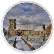 St Margarets Church Ridge Hertfordshire Round Beach Towel