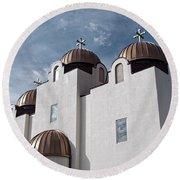 St Mary And St Abraam Coptic Orthodox Church Round Beach Towel