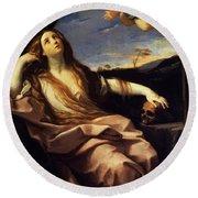 St Mary Magdalene 1632 Round Beach Towel