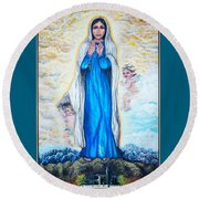 St Mary Of The Valley Round Beach Towel