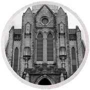 St Mary's Cathedral Memphis Tn Round Beach Towel