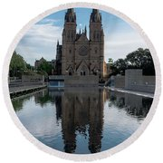 St Mary's Cathedral Round Beach Towel