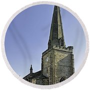 St Mary's Church At Uttoxeter Round Beach Towel