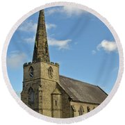 St Mary's Church - Coton In The Elms Round Beach Towel