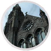 St. Mary's Of The Rosary Catholic Church Round Beach Towel