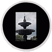 St. Mary's Water Fountain Round Beach Towel