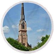 St. Matthew's German Evangelical Lutheran Church In Charleston Round Beach Towel