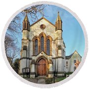 St Michael And St George R.c Church - Lyme Regis Round Beach Towel