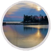 St. Michael's Sunrise Round Beach Towel by Bill Cannon