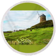 St Monans Windmill Round Beach Towel