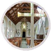 St Mylor Altar Cross Round Beach Towel