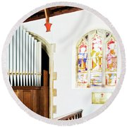 St Mylor Organ Pipes Round Beach Towel
