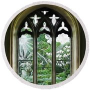 St Nicholas And St Magnus Church Window - Impressions Round Beach Towel