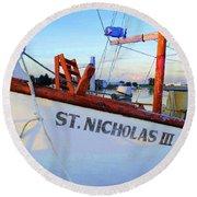St. Nicholas IIi Round Beach Towel