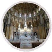St. Nicholas Of Tolentine Church - IIi Round Beach Towel