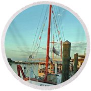 St. Nick  Round Beach Towel
