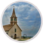 St Olafs Church Round Beach Towel