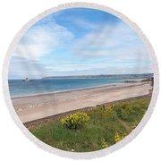 St Ouen's Bay Jersey Round Beach Towel
