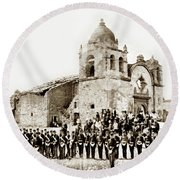 St. Patrick's Cadets On The Third Of July, 1882 At The  Round Beach Towel