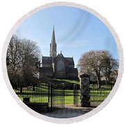 St. Patrick's Cathedral, Trim Round Beach Towel