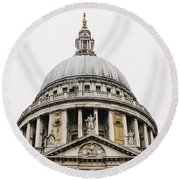 St Paul Cathedral Dome Round Beach Towel