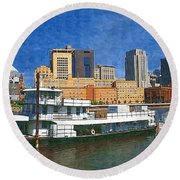 St Paul On The Mississippi Round Beach Towel