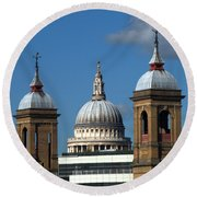 St Pauls An Alternate View Round Beach Towel