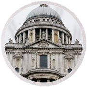 St Pauls Cathedral Closeup Round Beach Towel