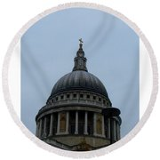 St. Paul's Cathedral Dome Round Beach Towel