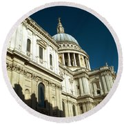 St Pauls Cathedral London 2 Round Beach Towel