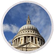 St Pauls Cathedral London England Uk Round Beach Towel