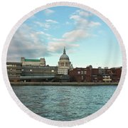 St Paul's Cathedral London Round Beach Towel