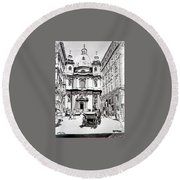 St. Peters Cathedral Round Beach Towel
