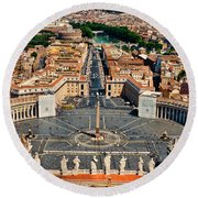 St Peter's Square Round Beach Towel