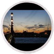 St. Petersburg Round Beach Towel