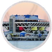 St. Petersburg Pier Round Beach Towel