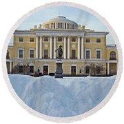 St Petersburg, Russia, Pavlovsk Palace Round Beach Towel