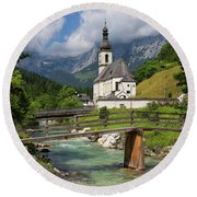 St. Sebastian Church Round Beach Towel