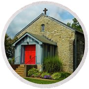 St. Timothy's Episcopal Church Round Beach Towel