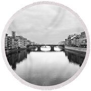 St. Trinity Bridge, Florence Round Beach Towel