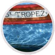 St. Tropez Round Beach Towel by Lainie Wrightson