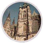 St Vitus Cathedral Prague Round Beach Towel