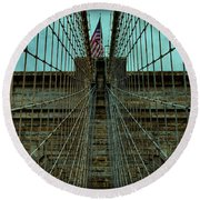 Stable - Brooklyn Bridge Round Beach Towel