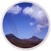 Stac Pollaidh Inverpolly National Nature Reserve Wester Ross Scotland Round Beach Towel