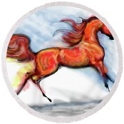 Staceys Arabian Horse Round Beach Towel
