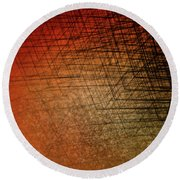 Stacked Boxes-sunset Round Beach Towel