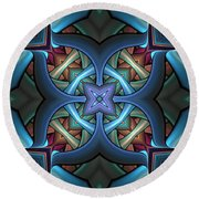 Stacked Kaleidoscope Round Beach Towel