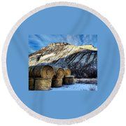 Stacked Mountains  Round Beach Towel