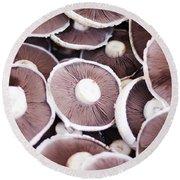 Stacked Mushrooms Round Beach Towel
